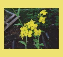 Yellow Mustard Green Flowers Baby Tee