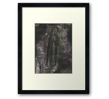 Judas Goes Out Into The Night Framed Print