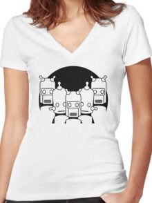 Robots Women's Fitted V-Neck T-Shirt