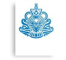 Zodiac Sign Aquarius Blue Metal Print
