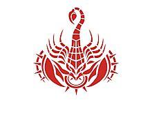 Zodiac Sign Scorpio Red Photographic Print