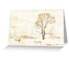Grungy Winter Greeting Card