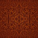 Etnic Pattern Red by elangkarosingo