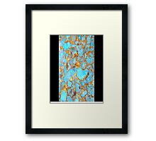 Turquoise and Gold iPhone / Samsung Galaxy Case Framed Print