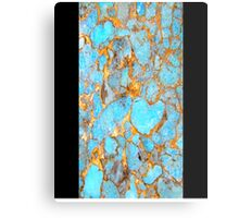 Turquoise and Gold iPhone / Samsung Galaxy Case Metal Print