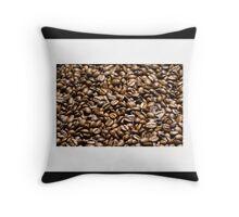 Coffee background Throw Pillow