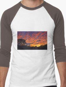 """""""Burning Sky"""" Men's Baseball ¾ T-Shirt"""