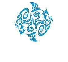 Zodiac Sign Pisces Blue Photographic Print