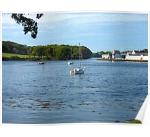 Boats in the Bay - Stornoway Poster