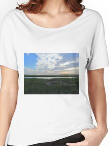 Beautiful Skies In Sunset Beach Women's Relaxed Fit T-Shirt