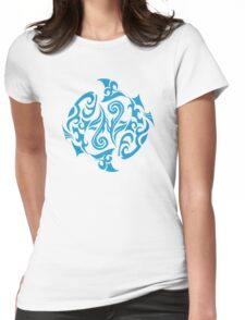 Zodiac Sign Pisces Blue Womens Fitted T-Shirt