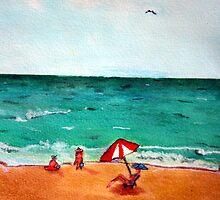 On the Beach by KAHH