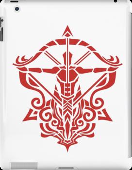 Zodiac Sign Sagitarius Red by elangkarosingo