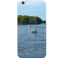 Boats in the Bay - Stornoway iPhone Case/Skin
