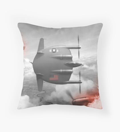 Flying flapjack Throw Pillow