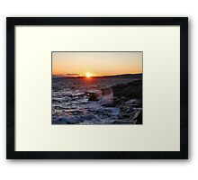 'October Sunset, Schoodic Point' Framed Print