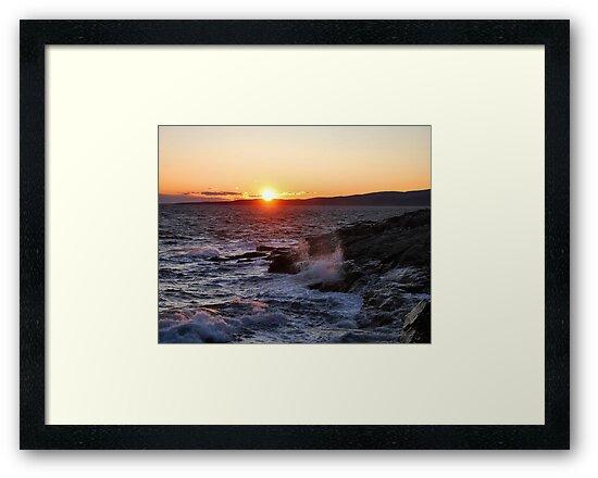 'October Sunset, Schoodic Point' by Scott Bricker
