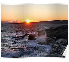 'October Sunset, Schoodic Point' Poster