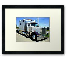 2000 Peterbilt Framed Print