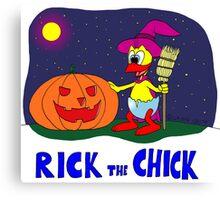 "Rick the chick ""HALLOWEEN"" Canvas Print"