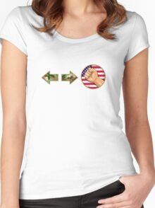 sonic boom - Guile Women's Fitted Scoop T-Shirt