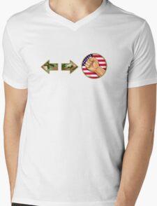 sonic boom - Guile Mens V-Neck T-Shirt