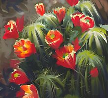 Flowering Cactus by Cori Redford