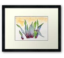 garbage tulips Framed Print