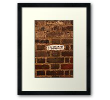 Cool to be different Framed Print