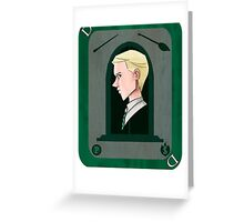 Draco Malfoy Playing Card Greeting Card