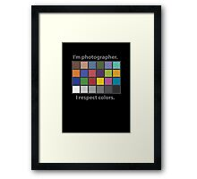 Colour charted t-shirt Framed Print