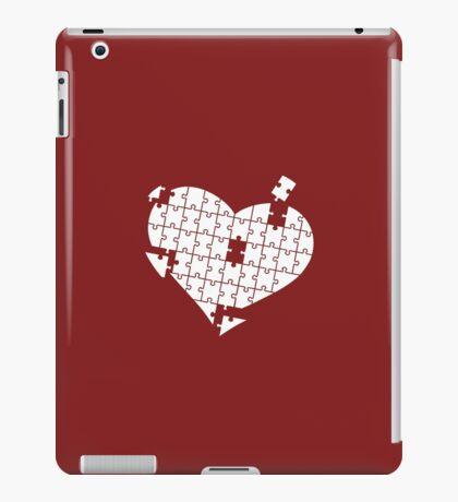 Heart Puzzle White iPad Case/Skin
