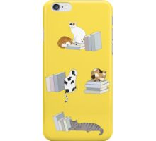 Cats Love Books iPhone Case/Skin