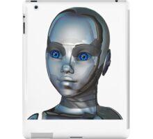 Young robotic Girl Face iPad Case/Skin