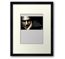 HERE'S TO THE CRAZY ONES Framed Print