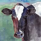 Portrait Of A Cow by arline wagner