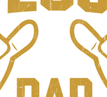 This is What an AWESOME DAD Looks Like Retro Sticker