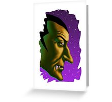 Vampire Face Greeting Card
