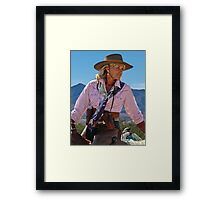 Ranch woman Framed Print