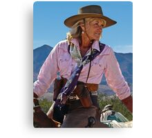 Ranch woman Canvas Print