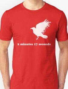 White Crow - 2 minutes and 17 seconds (white) T-Shirt