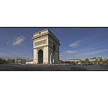 l'Arc de Triomphe (Art Card) by Patrick T. Power