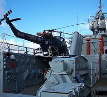 Helicopter on HMS Plymouth by susanmcm