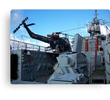 Helicopter on HMS Plymouth Canvas Print