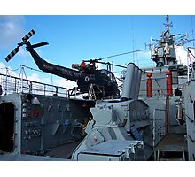 Helicopter on HMS Plymouth Photographic Print