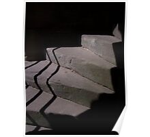 Spiral staircase in shadow Poster