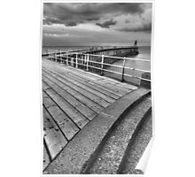 Whitby Pier, North Yorkshire Poster
