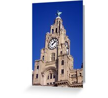 Liver Building Liverpool Greeting Card