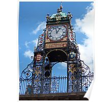 Clock in Chester Poster