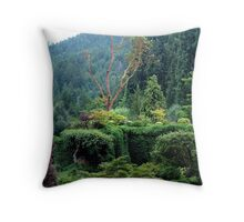 Arbutus In The Garden Throw Pillow